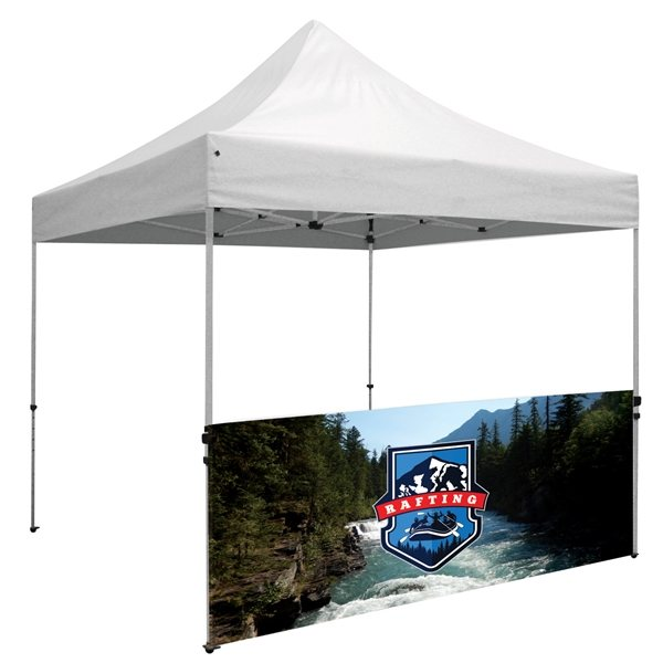 Promotional Premium 10 Tent Half Wall Kit (Dye - Sublimated, Single - Sided)