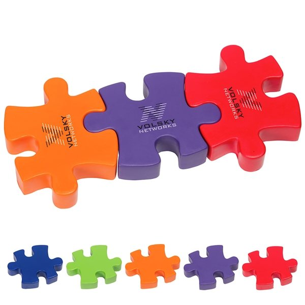 Promotional 3- Piece Connecting Puzzle Set - Stress Relievers