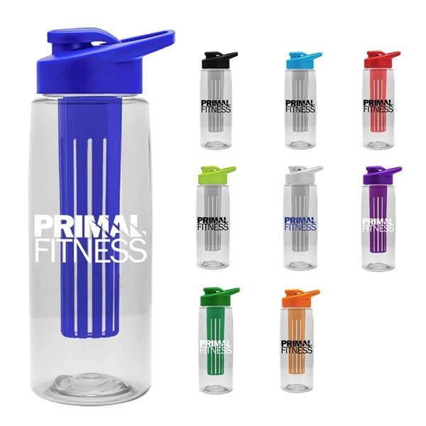 Promotional 26 oz Infuser Flair Bottle Drink - Thru Lid