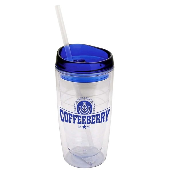 Promotional The View - 15 oz Insulated Transparent Tumbler