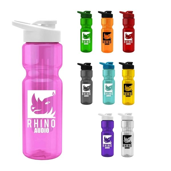 Promotional 28 oz Bottle with Long Infuser Thru Lid