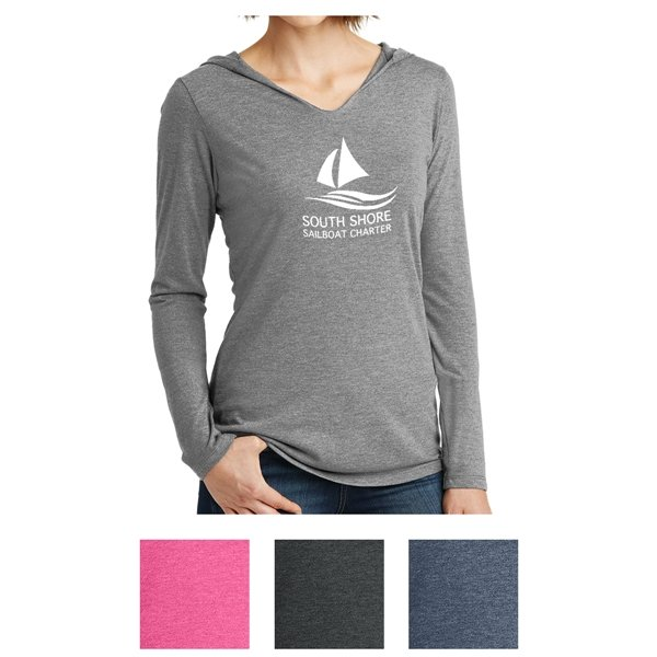Promotional District Made(R) Ladies Perfect Tri(R) Long Sleeve Hoodie