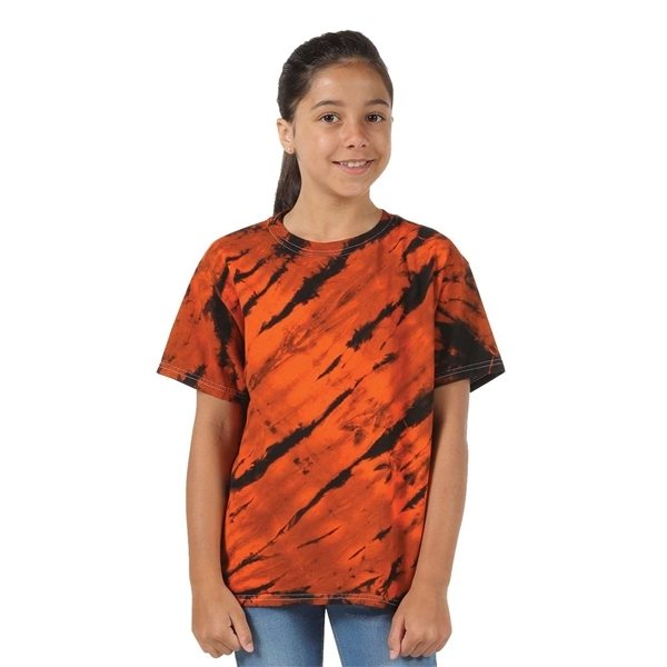 Promotional Tie - Dyed Tiger Stripe T - shirt