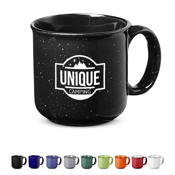 Promotional 15 oz Campfire Ceramic Mug