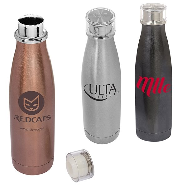 Purple 17-Ounce Built NY Double Wall Stainless Steel Perfect Seal Water Bottle