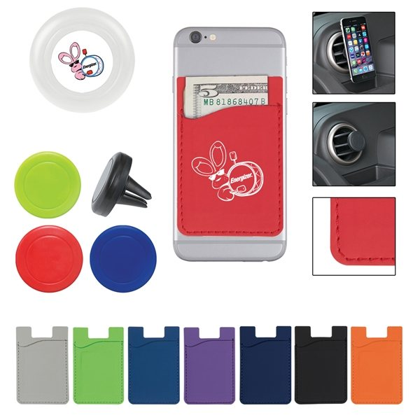 Promotional Magnetic Auto Air Vent Phone Wallet