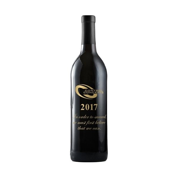 Promotional Etched Cabernet Sauvignon Red Wine