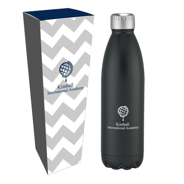 Promotional 26 oz Stainless Steel Swiggy Bottle with Custom Box