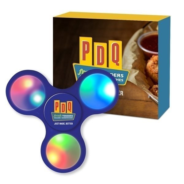 Promotional Light Up LED Fun Spinner With Custom Box