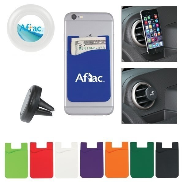 Promotional Auto Air Vent Magnetic Phone Wallet With Custom Box