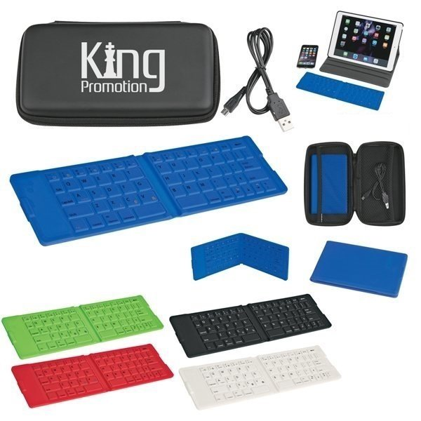 Promotional Folding Wireless Keyboard And Case With Custom Box