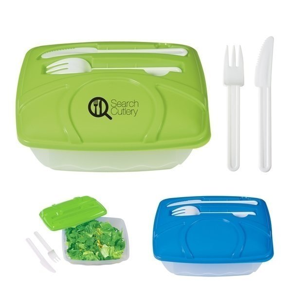 Promotional Wave Lunch Container With Custom Handle Box