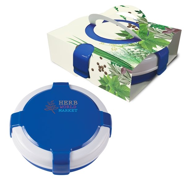 Promotional Silicone Collapsible Lunch Set With Custom Handle Box