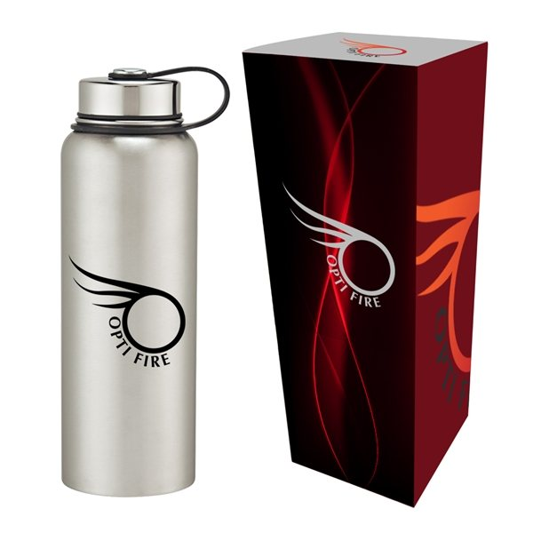 Promotional 40 oz Stainless Steel Invigorate Bottle With Custom Box