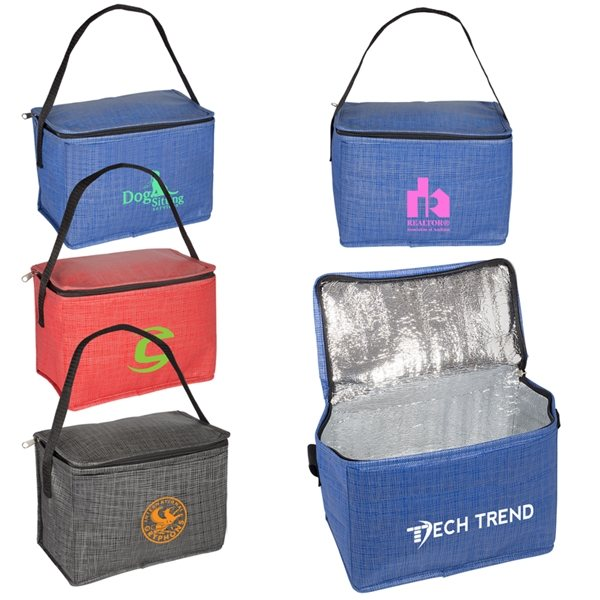 Promotional 6 Pack Tonal Non - Woven Cooler Bag