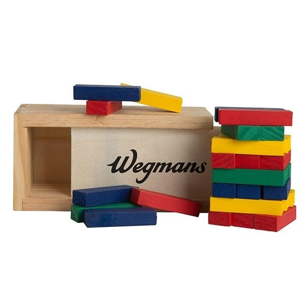 Promotional Multi - Colored Block Wooden Tower Puzzle