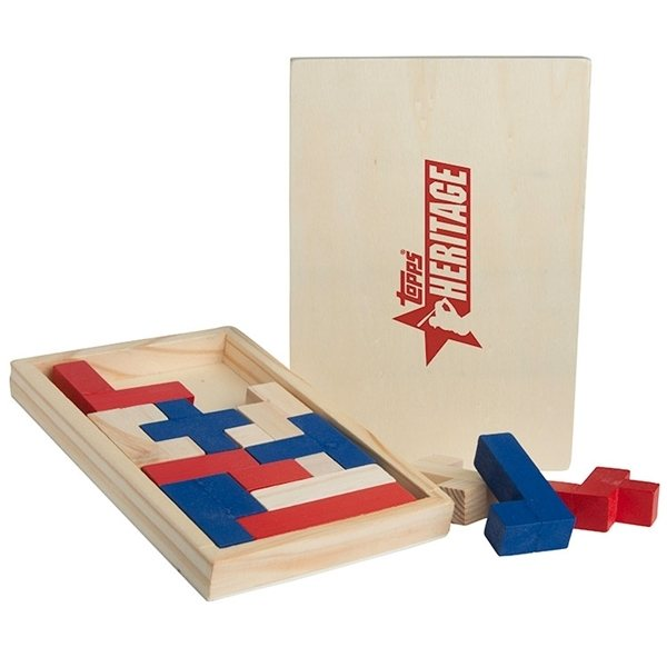 Promotional Color Wood Shapes Challenge Puzzle