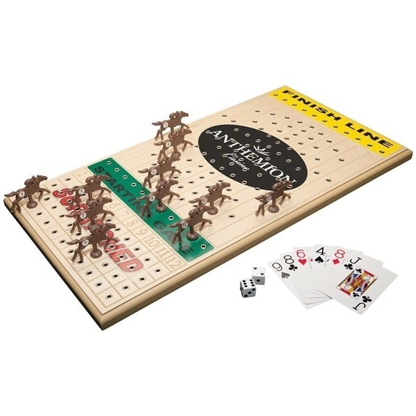 Promotional Horseracing Executive Maple Wooden Board Game