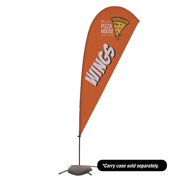 Promotional 9.5 Teardrop Value Sail Sign Kit Single - Sided with Cross Base