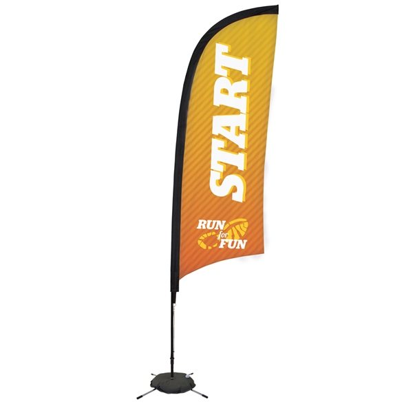 Promotional 9 Premium Razor Sail Sign Kit Single - Sided with Scissor Base
