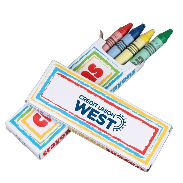 Promotional 4 Pack Crayons