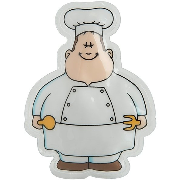 Promotional Chef Bert Gel Beads Hot / Cold Pack
