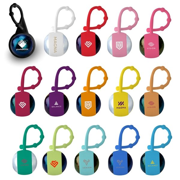 Promotional Chameleon Lip Balm With Silicone Carabiner