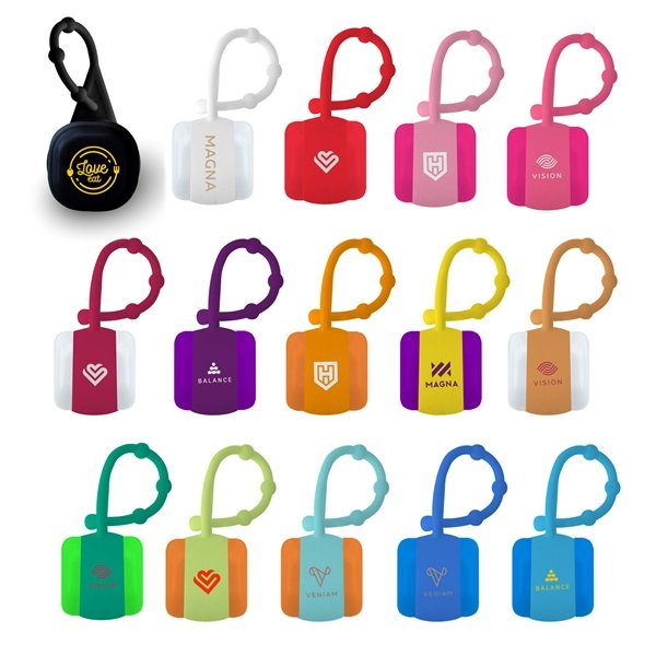 Promotional Cube Lip Balm With Carabiner