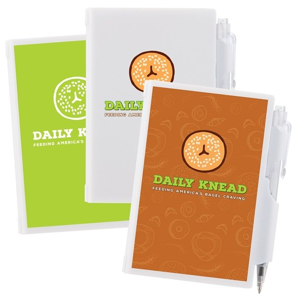 Promotional Plastic Note Pad w / Pen