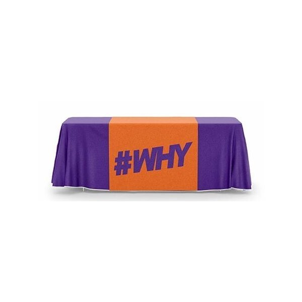 Promotional 3 ft. 3- Sided Table Runner - Dye Sublimated (36 x 69)
