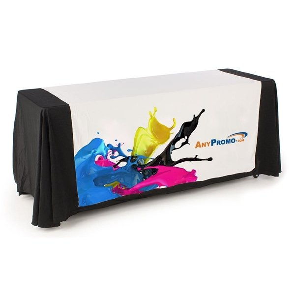 Promotional 8 ft. 4- Sided Table Runner - Dye Sublimated (96 x 87)