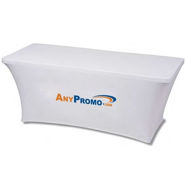 Promotional 5 ft. 3- Sided Stretch Table Cover - Dye Sublimated (5 x 28.5 x 28.5)