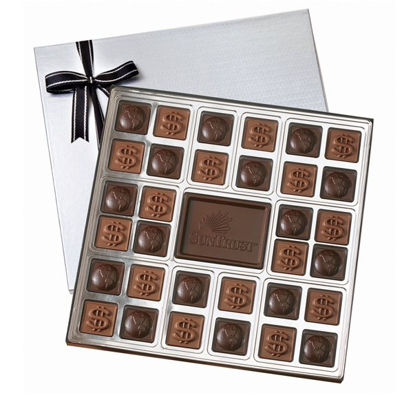 Promotional Custom Chocolate Squares Gift Box (1 1/2 Lbs.)