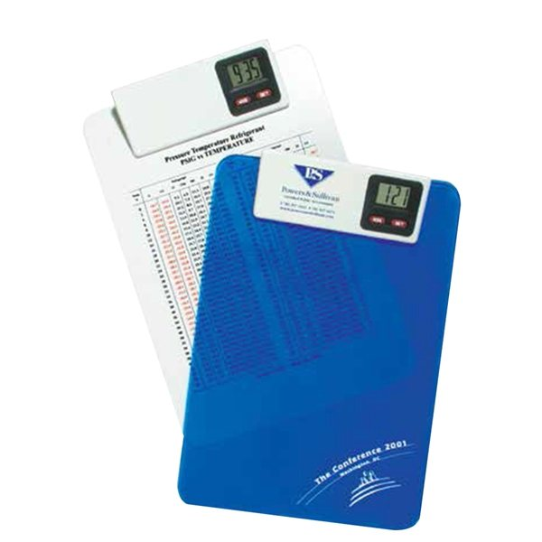Promotional Roseland Letter Size Clipboard with Clock