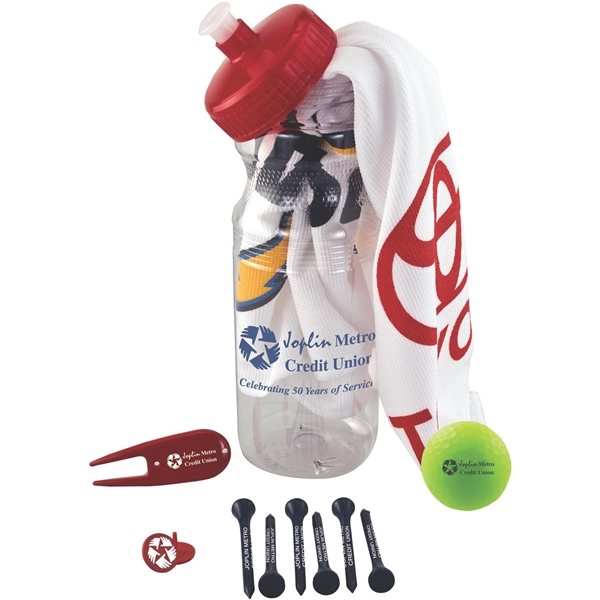 Promotional Basic Cart Caddy with Volvik Vivid Golf Ball