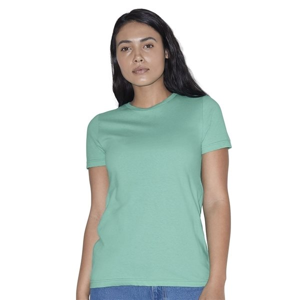 Promotional American Apparel - Womens Fine Jersey Classic Short Sleeve T - Shirt