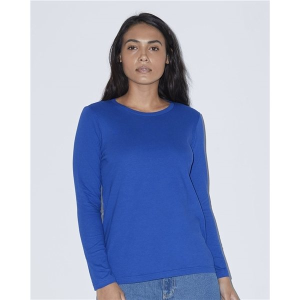 Promotional American Apparel - Womens Fine Jersey Classic Long Sleeve T - Shirt
