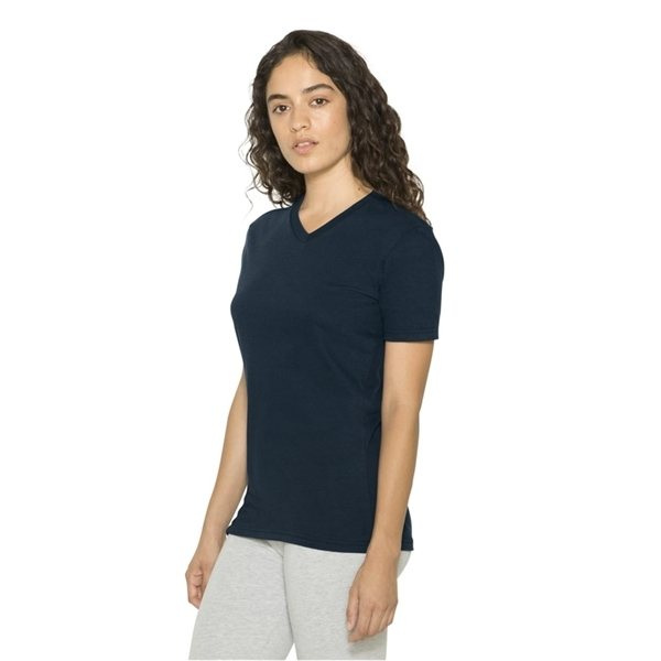 Promotional American Apparel - Womens Fine Jersey Classic V - Neck T - Shirt