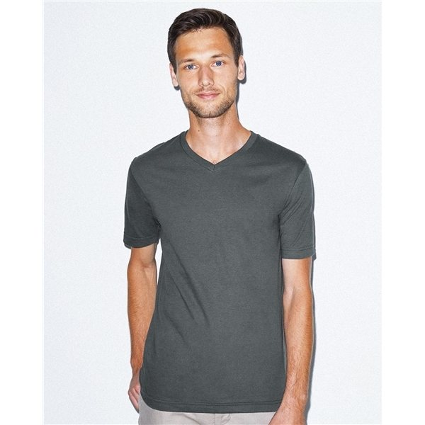 Promotional American Apparel - Unisex Fine Jersey Short Sleeve Classic V - Neck T - Shirt - COLORS