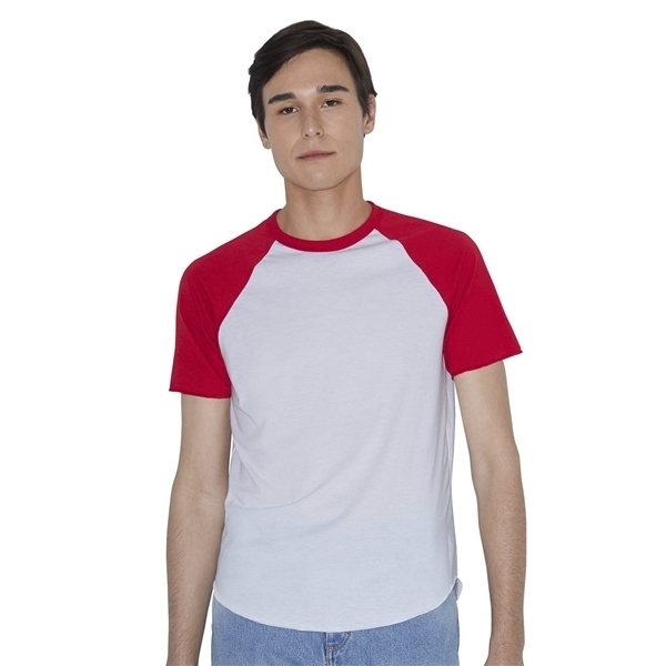 Promotional American Apparel - Unisex Poly - Cotton Short Sleeve Raglan T - Shirt