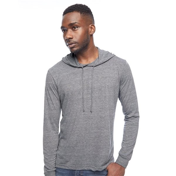 Promotional American Apparel - Unisex Triblend Long Sleeve Hooded T - Shirt