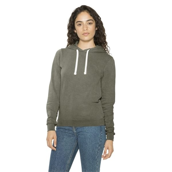 Promotional American Apparel - Womens French Terry Garment Dyed Mid - Length Hoodie
