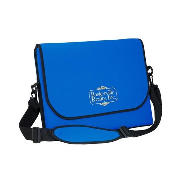 Promotional Neoprene Messenger Bag W / Strap 1- C Up To 14