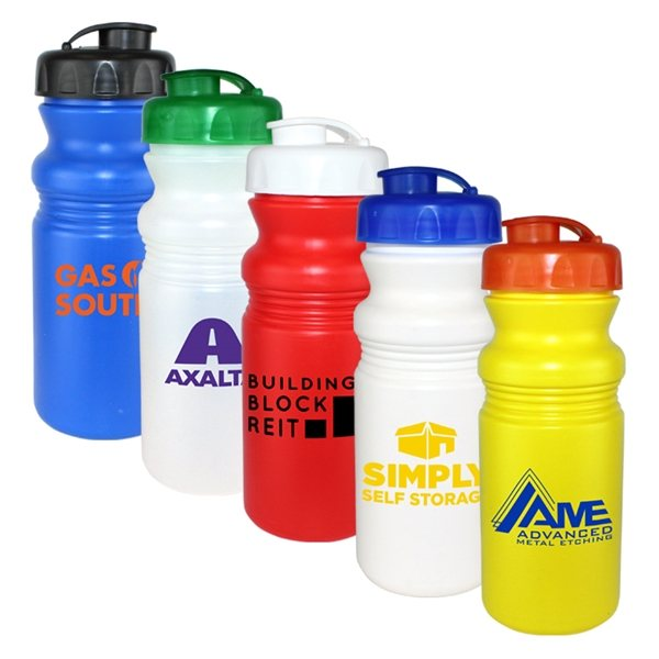 Promotional 20 oz Cycle Bottle with Flip Top Cap