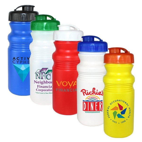 Promotional 20 oz Cycle Bottle with Flip Top Cap, Full Color Digital Direct