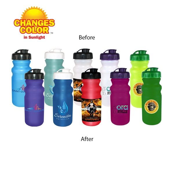 Promotional 20 oz Sun Fun Cycle Bottle with Flip Top Cap, Full Color Digital Direct