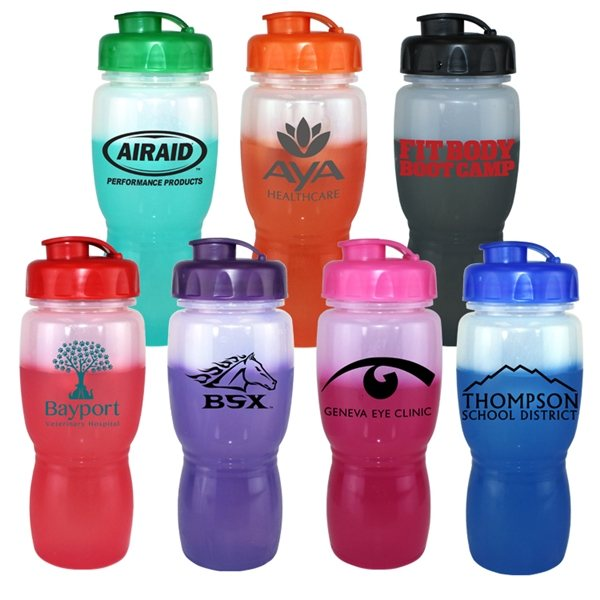 Promotional 18 oz Mood Poly - Saver Mate Bottle with Flip Top Cap