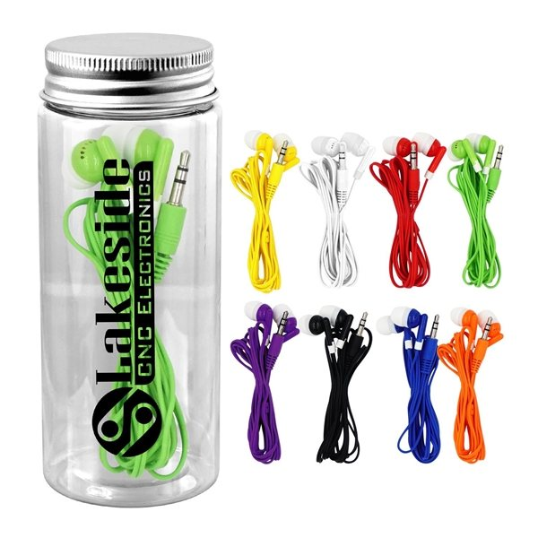 Promotional Bottle Ear Bud Set