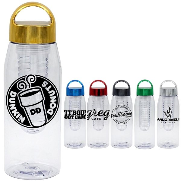 Promotional Metallic Arch 32 oz. Bottle with Infuser