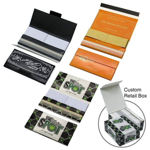 Promotional Rolling Paper Filter Pack